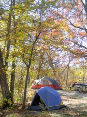 Campers from around the area head up to Lake Maria State Park on Saturday to see the peak fall colors.