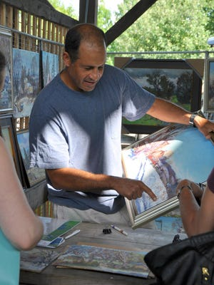 Carlton Manzano will be one of the participants at Friday's Ithaca Artist Market.