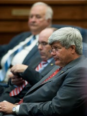 Sen. Trip Pittman on the senate floor in Montgomery in 2017. Pittman is the sponsor of Senate Bill 272, which would add nitrogen gas to lethal injection and the electric chair as allowable methods of execution in the state.