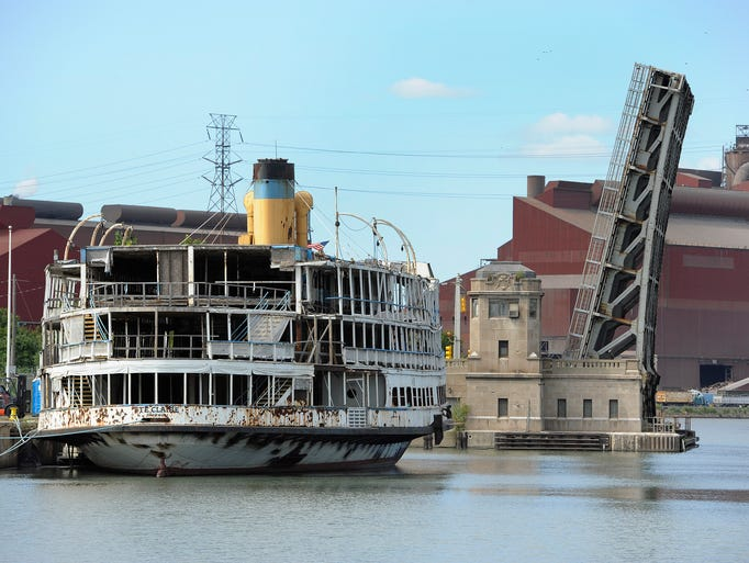 Along the Rouge River, the SS Ste. Claire steamship