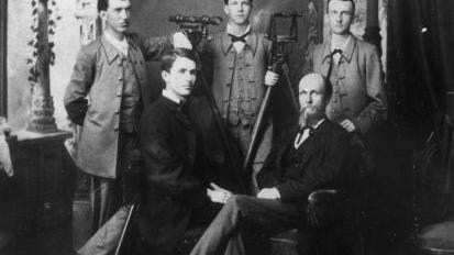 University of Alabama engineering class: Professor William J. Vaughn (seated, right) and members of his engineering class, circa 1881-1882. comments or information? Reach bettyslowe6@ggmail.com.