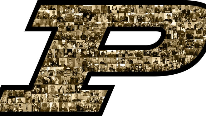 The logo on Purdue's helmets when the Boilermakers host Iowa on Sept. 27
