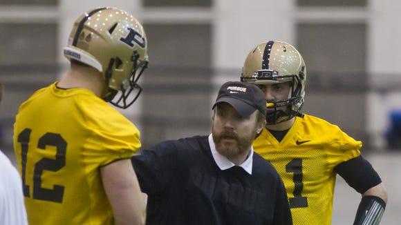 Purdue offensive coordinator John Shoop has two new