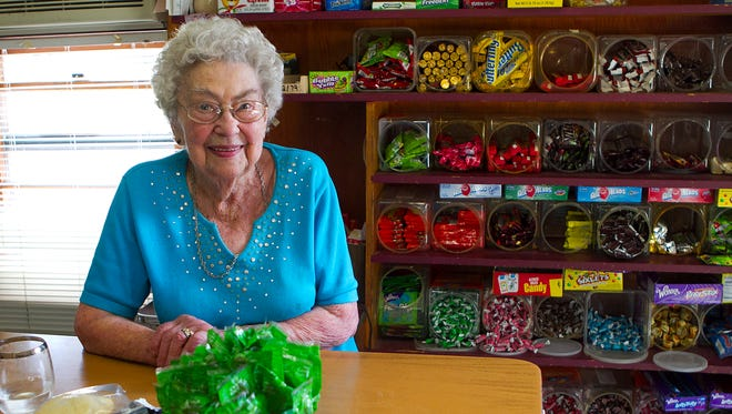 Margaretta Wolf Wolf's Grocery in Marshfield in 2013, a day after an attempted robbery at knifepoint at her store.
