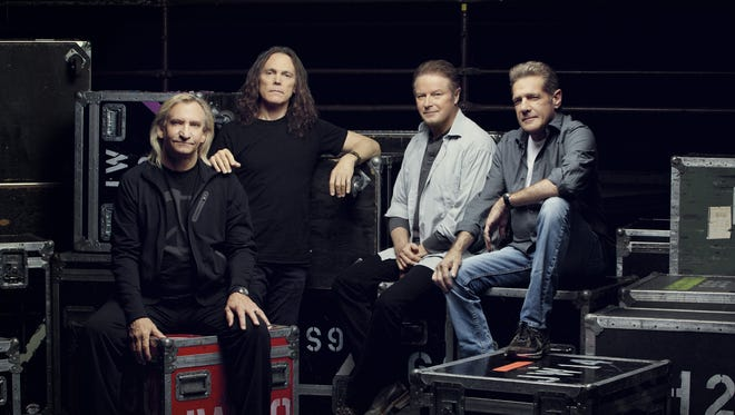 The Eagles are, from left: Joe Walsh, Timothy B. Schmit, Don Henley and Glenn Frey.