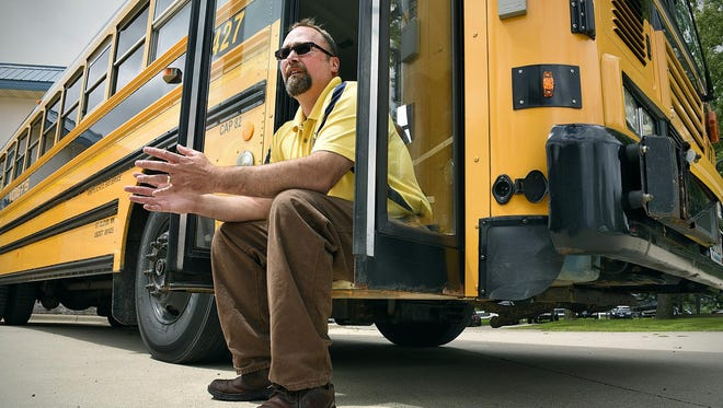 Troy Voigt of Voigt's Bus Service talks Tuesday about the lack of qualified bus drivers area companies are dealing with this close to the start of the school year.