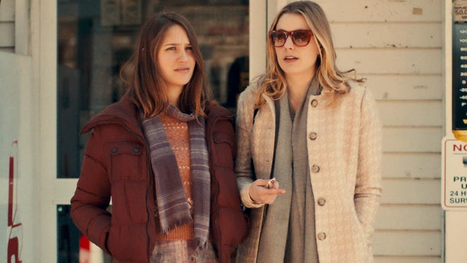 """Lola Kirke as Tracy and Greta Gerwig as Brooke in the latest film from Noah Baumbach, """"Mistress America."""""""
