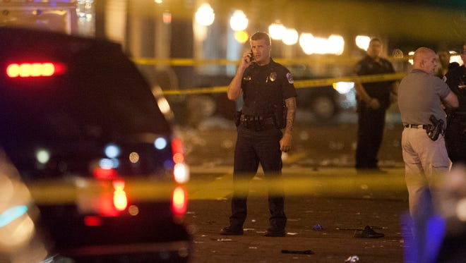 Scenes from a shooting Oct. 17 during Zombicon in downtown Fort Myers. The shooting left one dead and five others injured.