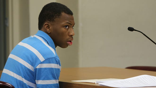Maka Fuller Jr. is seen during his transfer hearing in Judge Christy Little's courtroom, at the Walter Baker Harris Juvenile Court Building, on Wednesday.