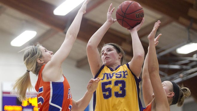University of Wisconsin-Stevens Point senior Allie Miceli finished with a team-high 16 points and nine rebounds to power the No. 17 Pointers to a 55-44 win over UW-Stout in a WIAC Tournament quarterfinal contest at Berg Gym on Tuesday night.