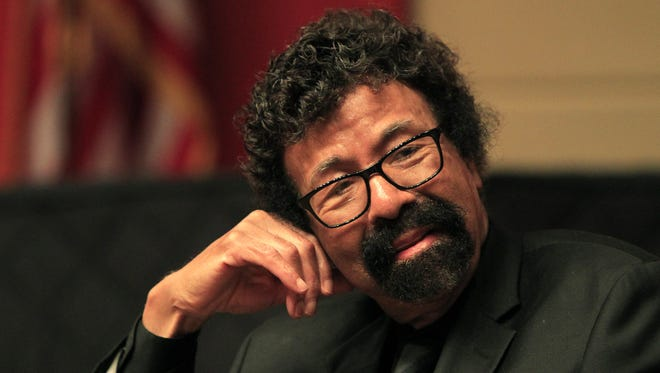 David Baker, jazz performer and educator, on stage during the Spirit & Place Festival in November 2013 at Clowes Auditorium at the Central Library.