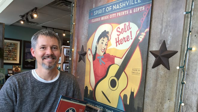 "Joel Anderson's ""Spirit of Nashville"" prints have become almost as iconic as the local landmarks the depict."