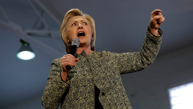 Democratic presidential candidate Hillary Clinton (seen during a campaign stop May 1, 2016, in Indianapolis) will return to the city Sunday.