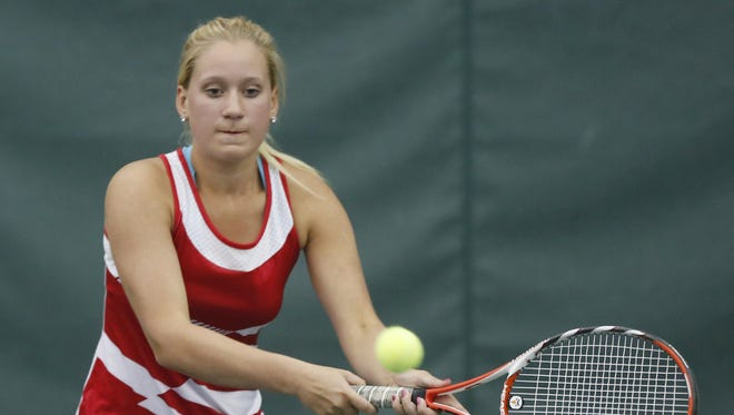 Abney Trout plays No. 2 singles for Lafayette Jeff, which is enjoying a turnaround season.