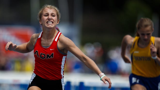 Doctors told Maggi Bjurstrom of ADM of Adel that she might not be able to run after a knee injury. On Saturday, she won a state track title.