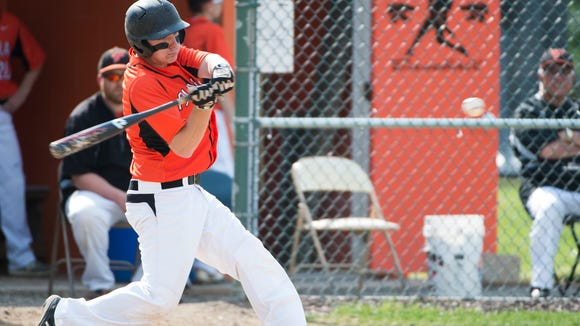 Palmyra's Evan Hallowell racked up five RBIs in the Cougars' 10-2 victory over Spring Grove in the District Three Class AAA tournament semifinals on Tuesday.