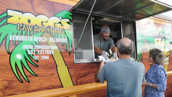 The Sea Hogg food truck serves up tacos.