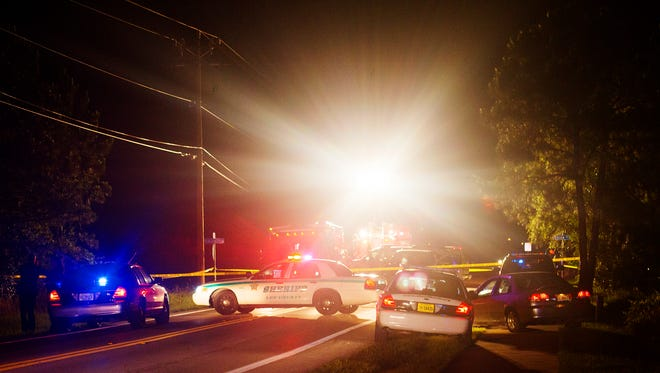 Scenes from a shooting that left two people dead in Lehigh Acres late Saturday night. The incident originated at a home in the 3500 block of 9th street west at 9:25 p.m., according to the Lee County Sheriff's Office.