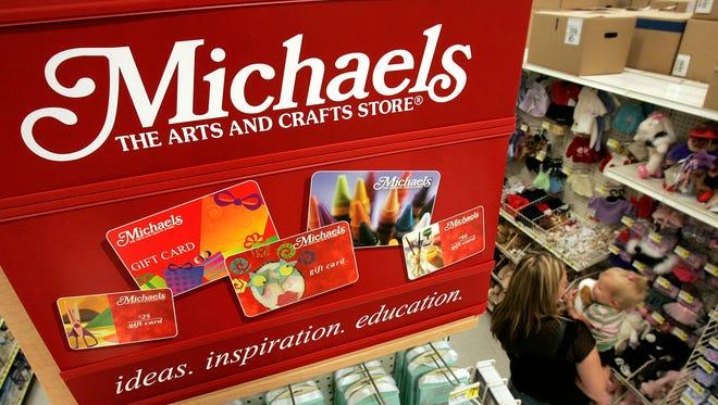 Inside a Michaels store.