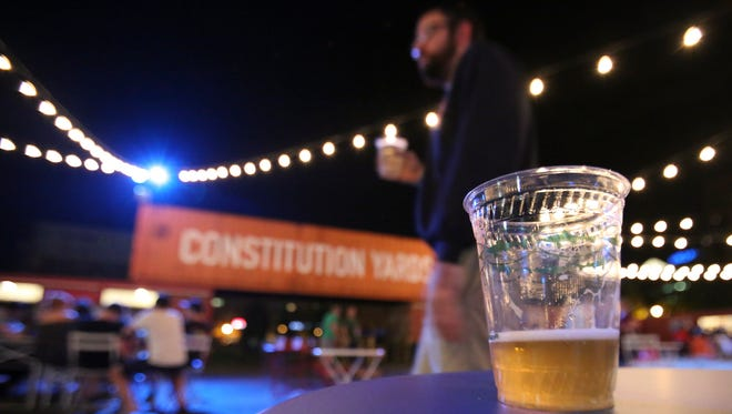 The Constitution Yards Beer Garden opened at the Wilmington Riverfront on Friday, June 24, 2016.