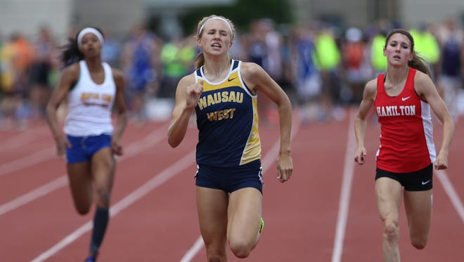 Wausau West's Brooke Jaworski is the first freshman honored by the WISTCA as an athlete of the year.