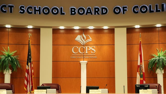 The Collier School Board unveiled a new logo at a news conference Jan. 28, 2015.