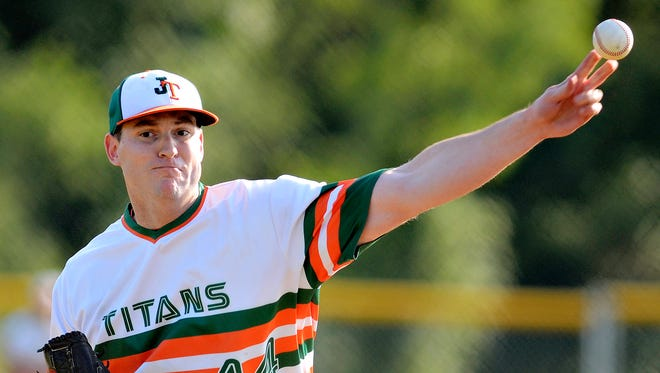 Jefferson's Jon Kibler wasn't eligible for the Central League baseball playoffs, but he is expected to pitch in Tom Kerrigan Memorial Tournament. Jefferson is the defending Kerrigan champion. DISPATCH FILE PHOTO