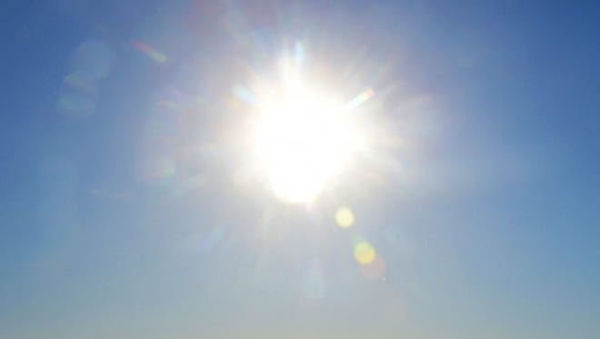 This is a file photo of the sweltering sun.