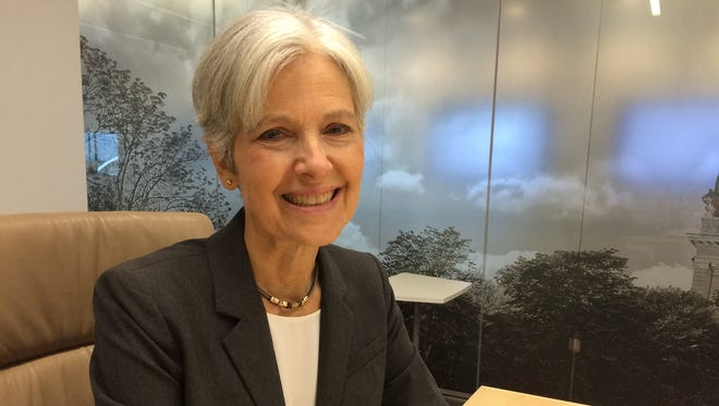 Jill Stein, the Green Party candidate for president, said she would not have assassinated al-Qaeda leader Osama bin Laden. Stein, seen here at the Des Moines Register on Sunday, Sept. 11, 2016.
