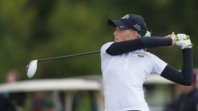 The state's top-ranked girls golfer, Westfield's Cailyn Henderson, shot a regional-best 64 Saturday at Smock Golf Course