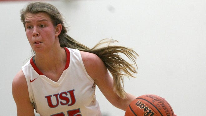 University School of Jackson's Anna Jones (25) committed to play basketball at MTSU over the summer.