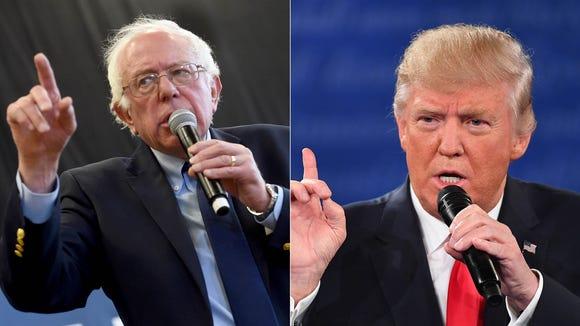 Bernie Sanders and Donald Trump.