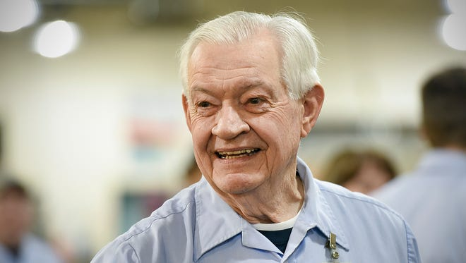 Ray Lund, 79, talks about his 56 years as a Postal carrier before he starts his route for the last time Friday, Feb. 3, at the downtown St. Cloud Post Office.