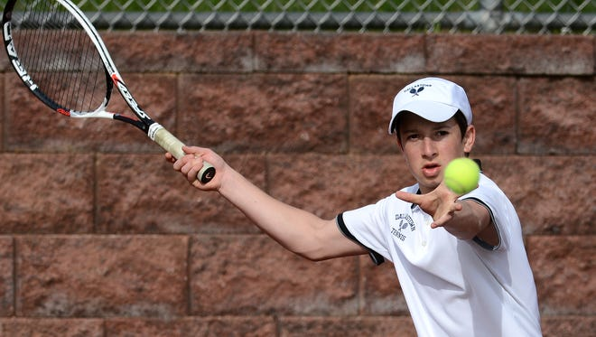 Dallastown's Jonathan Burns won at No. 3 singles on Wednesday in straight sets against South Western.