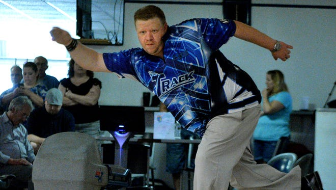 Adam Baer, seen here in a file photo, posted the top bowling average in York County for 2020-2021 at 246 at Hanover Bowling Centre.