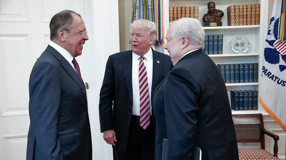 President Donald Trump meets with Russian Foreign Minister