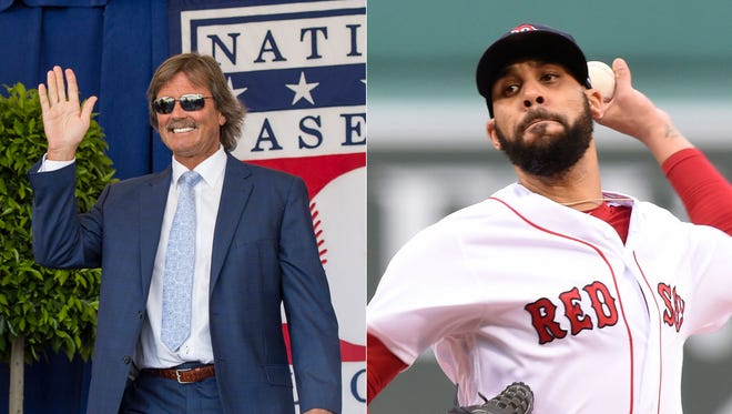 Hall of Famer Dennis Eckersley (left) and starter David Price had a confrontation in June.