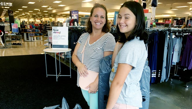 Sara Moncayo and her daughter Reagan had big success at Kohl's on the Tax Free Shopping Day, saving close to $80 in sales tax.