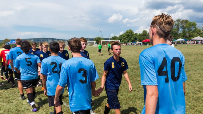 The annual 5 Angels Memorial Soccer Tournament consists of 16 teams of high school players from around the Hanover area.