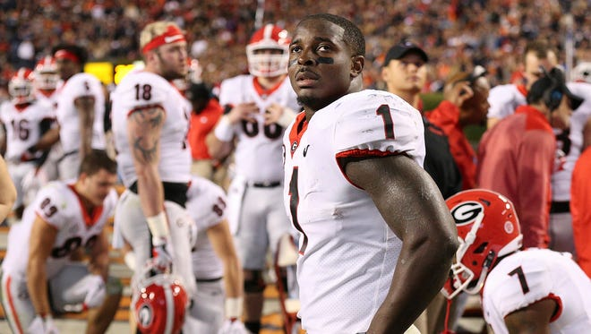 Georgia tailback Sony Michel was electric in the Rose Bowl against Oklahoma with 4 TDs, including the winning score in the 2nd overtime.