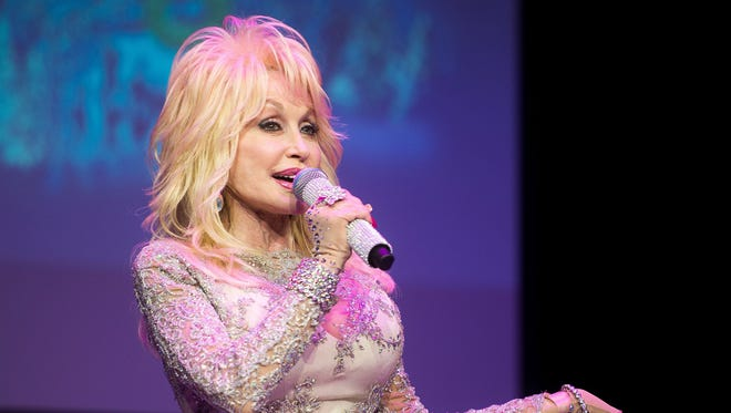 Dolly Parton speaks about Dollywood's Smoky Mountain Christmas and the park's 2018 season during a media event at Dollywood on Nov. 3, 2017. Parton turns 72 on Friday, Jan. 19, 2018.