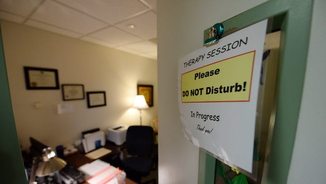 A therapy session room at Bellin Psychiatric Unit on St. Joseph Street in Allouez.