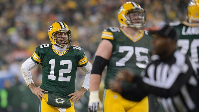 Green Bay Packers right tackle Bryan Bulaga (75) was active for Sunday's game against the Tampa Bay Buccaneers.