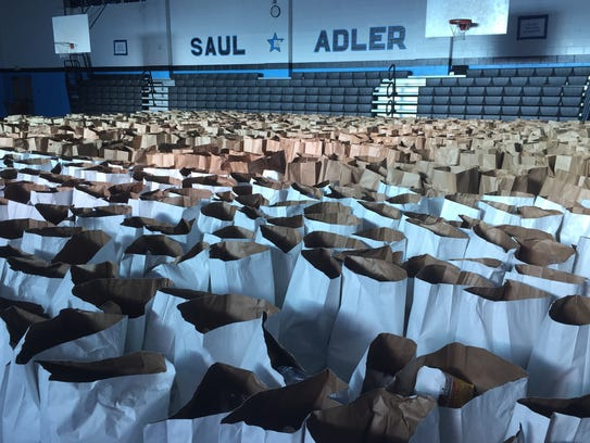 Approximately 1,200 bags of food will be distributed