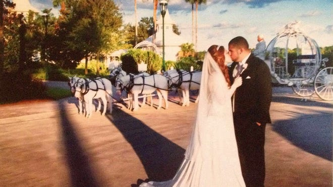 Alicia McInnis, of north Wilmington, had her dream wedding at Disney's Wedding Chapel.