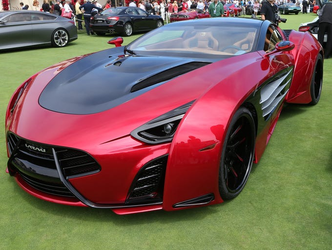 The Laraki Epitome  was on display at the Pebble Beach Concours D'Elegance in Pebble  Beach, Calif.