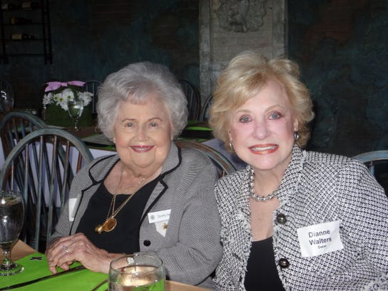 P.E.O. Chapter AE member Dot Haddad and guest, Dianne