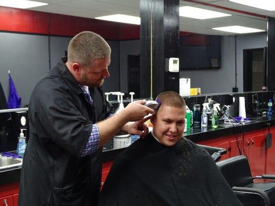 Derek Floriana, owner of Floriana's Barber Shop and