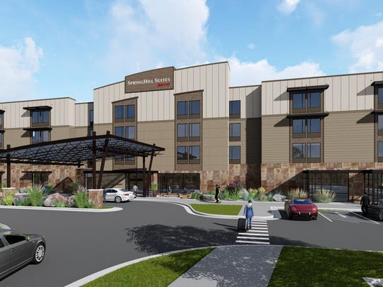 Great falls springhill marriott hotel plans under review for Springhill designs
