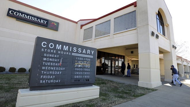 """File photo shows the Commissary at Maxwell Air Force Base in Montgomery. The Pentagon's last two budget plans to """"reform"""" the commissary benefit for military families and retirees were driven by a goal to save money, without due regard for preserving the benefit, said a senior Defense official who claims to be leading commissary reforms on a less perilous path."""